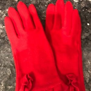 ECHO BRAND CHEERY RED WOOL TOUCHSCREEN GLOVES